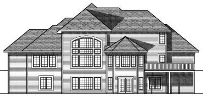 Rear Elevation Plan: 7-713