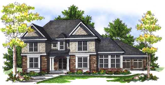 Traditional Style House Plans Plan: 7-714