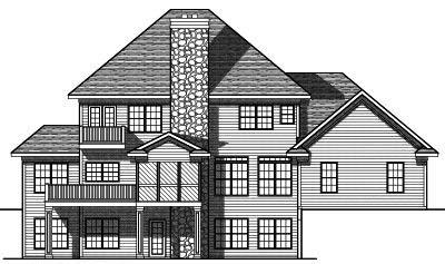Rear Elevation Plan: 7-715
