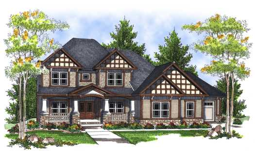 Craftsman Style Home Design Plan: 7-716