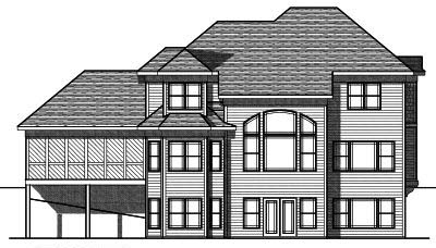 Rear Elevation Plan: 7-716