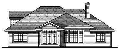 Rear Elevation Plan: 7-717