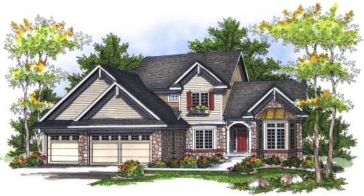 Traditional Style Home Design Plan: 7-718