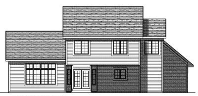 Rear Elevation Plan: 7-718