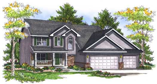 Traditional Style Home Design Plan: 7-719