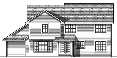 Rear Elevation Plan: 7-719