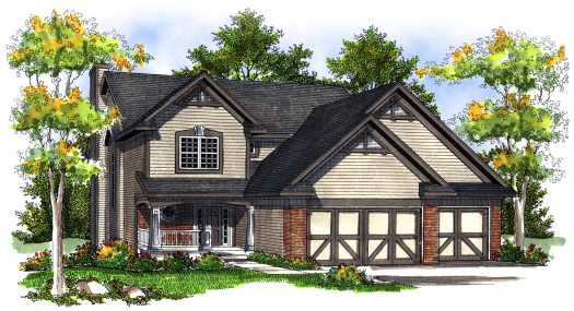 Country Style Floor Plans Plan: 7-720