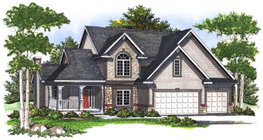 Country Style Floor Plans Plan: 7-721
