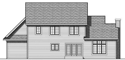 Rear Elevation Plan: 7-721