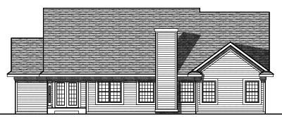 Rear Elevation Plan: 7-722