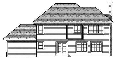 Rear Elevation Plan: 7-723