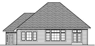 Rear Elevation Plan: 7-725