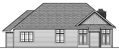 Rear Elevation Plan: 7-726