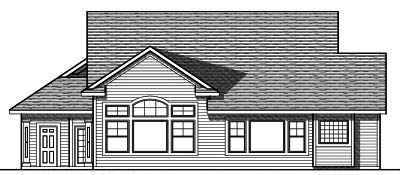 Rear Elevation Plan: 7-727