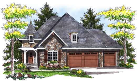 French-country Style Floor Plans 7-728
