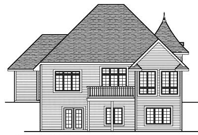 Rear Elevation Plan: 7-729