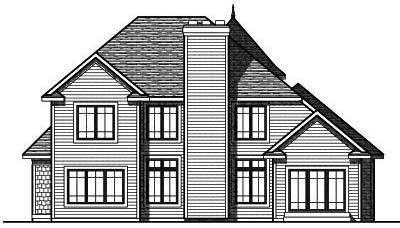 Rear Elevation Plan: 7-730