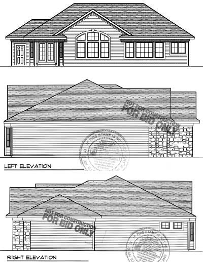 Rear Elevation Plan: 7-731