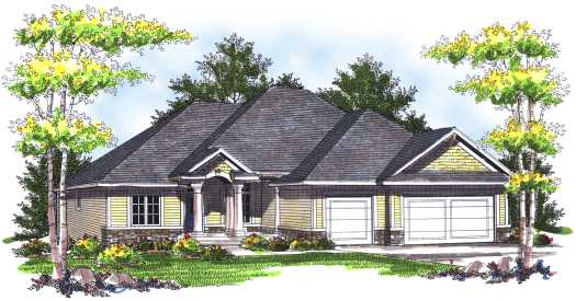 Traditional Style Home Design Plan: 7-732