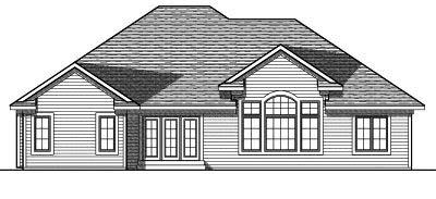 Rear Elevation Plan: 7-732