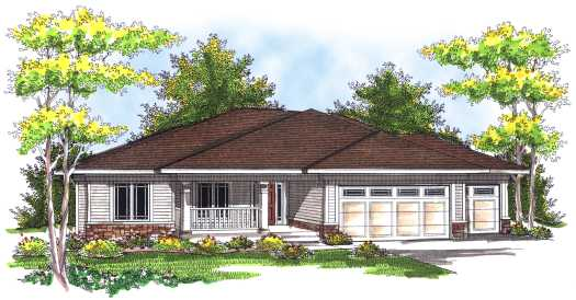 Traditional Style Home Design Plan: 7-733
