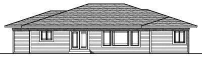 Rear Elevation Plan: 7-733