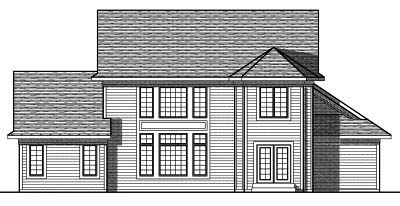 Rear Elevation Plan: 7-734