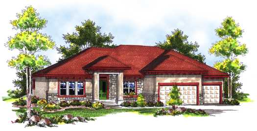 Contemporary Style House Plans Plan: 7-736