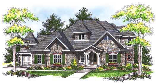 French-country Style House Plans Plan: 7-738