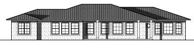 Rear Elevation Plan: 7-739