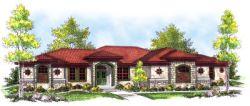 Mediterranean Style House Plans Plan: 7-739