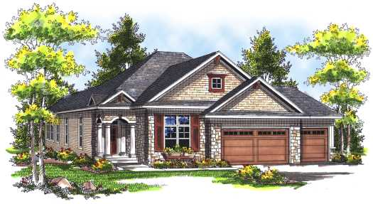 Traditional Style Floor Plans 7-740