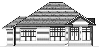 Rear Elevation Plan: 7-740
