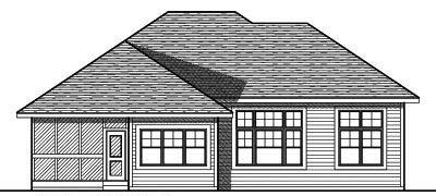 Rear Elevation Plan: 7-741