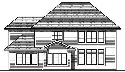 Rear Elevation Plan: 7-742