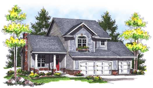 Traditional Style House Plans 7-743