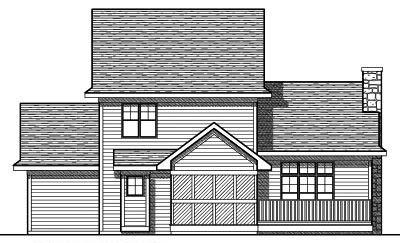 Rear Elevation Plan: 7-743
