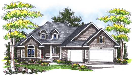 Traditional Style Home Design Plan: 7-744