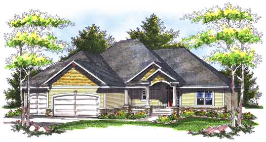 Traditional Style Floor Plans Plan: 7-745
