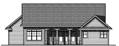 Rear Elevation Plan: 7-746