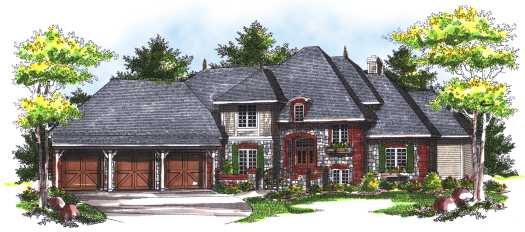 European Style House Plans Plan: 7-748