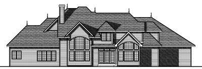 Rear Elevation Plan: 7-748