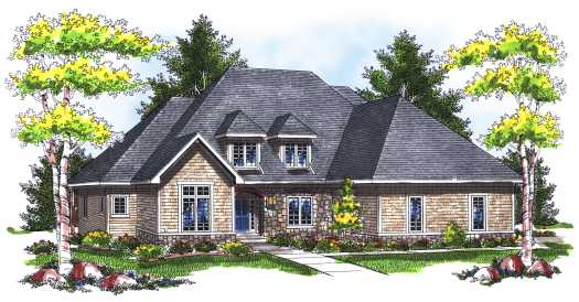 European Style House Plans Plan: 7-749