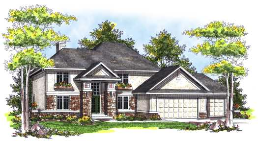 Traditional Style Home Design Plan: 7-750