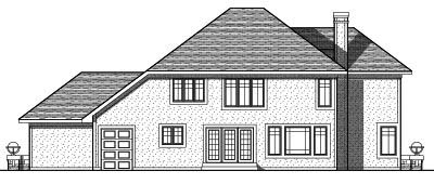 Rear Elevation Plan: 7-750