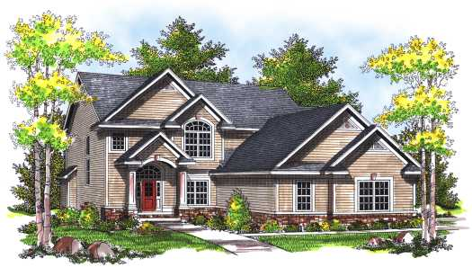 Traditional Style Home Design Plan: 7-751