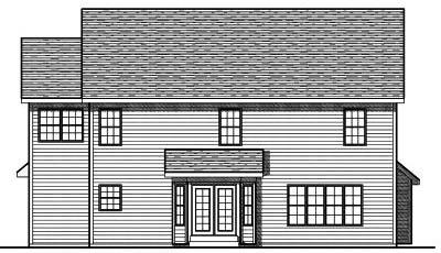 Rear Elevation Plan: 7-751