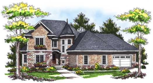European Style House Plans Plan: 7-752