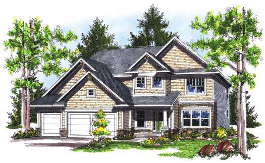 Traditional Style Floor Plans Plan: 7-753