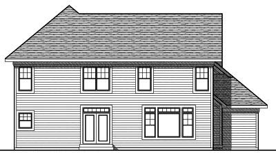 Rear Elevation Plan: 7-753